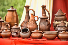 Ceramic jugs Stock Image