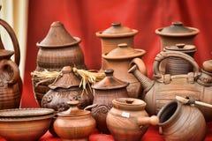 Ceramic jugs Stock Image