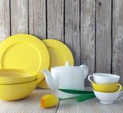 Ceramic kitchen utensils. Royalty Free Stock Photography