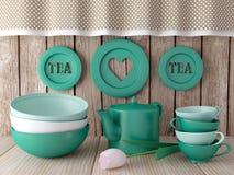 Ceramic kitchen utensils. Stock Images