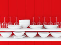 Ceramic kitchenware. Royalty Free Stock Images