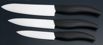 Ceramic knives set Royalty Free Stock Images