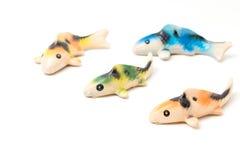 Ceramic of Koi fish sculptors. Use to decorate Stock Image
