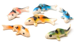 Ceramic of Koi fish sculptors. Use to decorate Royalty Free Stock Photos