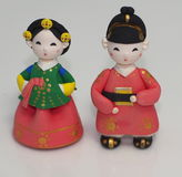 Ceramic Korean Dolls Royalty Free Stock Images