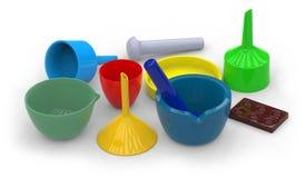Ceramic labware Stock Photo