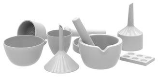 Ceramic labware Royalty Free Stock Photo