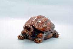 Ceramic large brown tortoise Royalty Free Stock Images