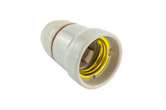 Ceramic Light Bulb Socket Stock Photo