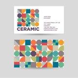 Ceramic logo. Corporate identity for ceramic tiles, ceramic products shop. stock illustration