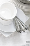 Ceramic and metal dishes Royalty Free Stock Photography