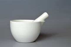 Ceramic mortar and pestle Stock Images