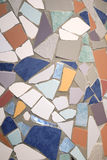 Ceramic mosaic. Abstract background made with ceramic colored pieces Stock Photos