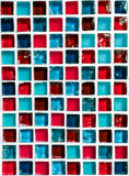 Ceramic Mosaic Blue and Red Royalty Free Stock Photo