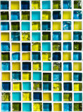 Ceramic Mosaic Blue and Yellow Royalty Free Stock Photos