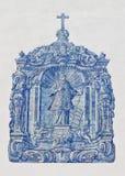 Ceramic mosaic on the historic church of San Lorenzo in Far royalty free stock photos