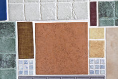 Ceramic mosaic tiles Stock Images