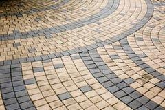 Ceramic mosaic tiles in brown color Stock Photos