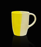 Ceramic mug. Isolated on black with clipping path Stock Image