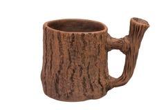 Ceramic mug isolated on white Royalty Free Stock Photo