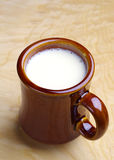 Ceramic mug with milk Stock Images