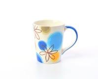 Ceramic mug on a white background Royalty Free Stock Images