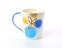 Ceramic mug on a white background Stock Images