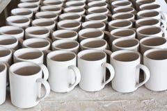 Ceramic mugs Stock Photography