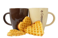 Ceramic mugs for coffee Royalty Free Stock Images