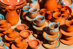 Ceramic mugs, cups, and pots. Royalty Free Stock Image