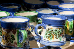 Ceramic mugs Stock Photos