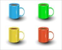 Ceramic mugs stock photo