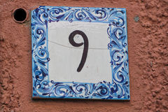 Free Ceramic Number Tile 9 Royalty Free Stock Photography - 37221757