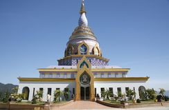 Ceramic Pagoda in Chiang Mai, Thailand Royalty Free Stock Photos