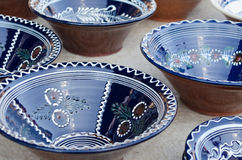 Ceramic painted plates Royalty Free Stock Photos