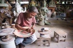 Ceramic painter pottery Stock Image