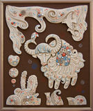 Cute Yak. Ceramic panel with Cheerful Yak Royalty Free Stock Images