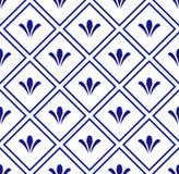 Ceramic pattern background. Ceramic pattern blue and white, porcelain seamless modern background, Chinaware design, pottery decor vector illustration stock illustration