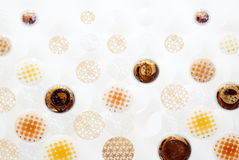 Ceramic patterned background Stock Photos