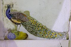 Ceramic peacock Royalty Free Stock Photo