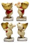 Ceramic Pig Chinese Lucky Money Royalty Free Stock Photo
