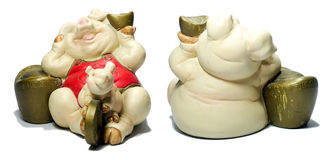Ceramic Pig Chinese Lucky Money Royalty Free Stock Image