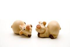 Ceramic pig Stock Photo