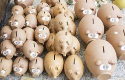 Ceramic pig piggy banks Stock Photo