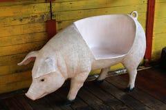 CERAMIC PIG SEAT Stock Photo