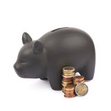 Ceramic piggy bank container isolated Stock Image