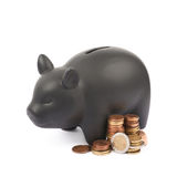 Ceramic piggy bank container isolated Royalty Free Stock Photography