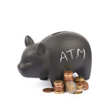 Ceramic piggy bank container isolated Stock Photos