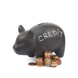 Ceramic piggy bank container isolated Royalty Free Stock Photos