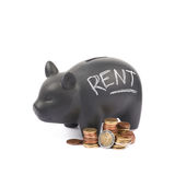 Ceramic piggy bank container isolated Royalty Free Stock Image